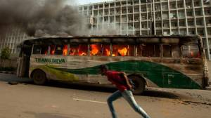 Hartal. Pic from Dhaka Tribune