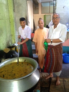 Dhal. The man on the right is the head cook.