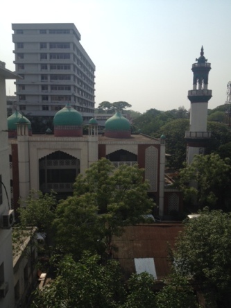 View from the window of the Ministry of Health and Family Welfare