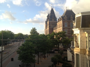 The Rijks Museum, as seen from my hotel window.